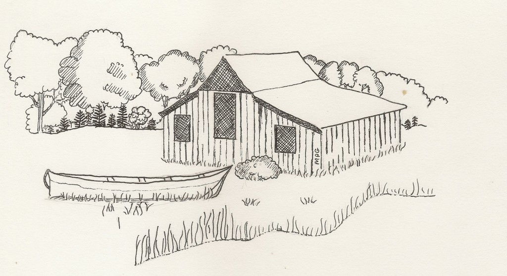 Barn and Canoe